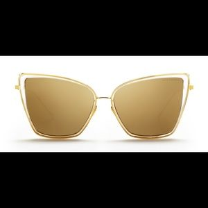 Dita sunbird cateye sunglasses 18k gold